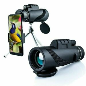 Outdoor Spotting Scope 40x60 HD High Magnification Starscope Phone Camera Zoom