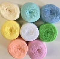 Lace yarn Crystal 8 Pastel Colors. Acrylic/Rayon 900 yards per ball.1 set of 8.