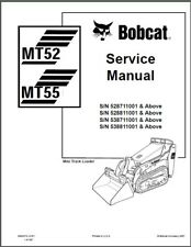 Bobcat MT52 MT55 Mini Track Loader Service Manual on a CD  ---  MT 52 55