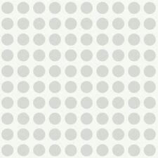 Silver Modern Dots Wallpaper PW3949 DOUBLE ROLL