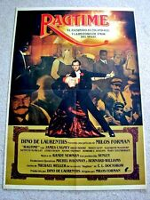 RAGTIME Original GANGSTER Movie Poster JAMES CAGNEY MILOS FORMAN PAT O'BRIEN