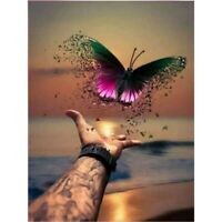 DIY 5D Diamond Painting Kits Full Drill Embroidery Cross Stitch Butterfly