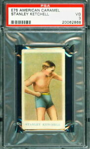 1909 E75 American Caramel Prize Fighter STANLEY KETCHEL HOF PSA 3 Boxer / Boxing