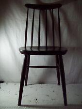 Chair Stuhl Fanett Tapiovaara Stil Speichenstuhl Mid Century braun 1 von 2 Nr. 2
