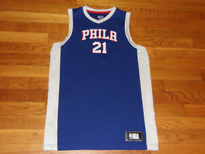 PHILADELPHIA 76ERS JOEL EMBIID BASKETBALL JERSEY BOYS XL 18-20 NICE CONDITION