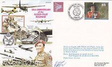 AC61bB 50th Anniv of the Glider Pilot Regiment.Flown Gazelle Signed Houston