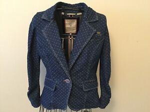 GUESS Los Angeles denim elegant blazer size M.