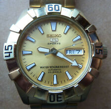 Seiko 5 SNZF64 Automatic Watch - Gold Stainless Steel Case