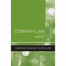 Company Law (Concise), Good Condition Book, Nicholas Grier, ISBN 9780414018921