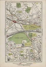 Mapa 1923 London ajenjo Scrubs. Kensal Green. harlesdon Acton MF.60