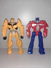 "Transformers OPTIMUS PRIME BUMBLEBE Titan Heroes HASBRO 12"" Figure w/ Sound 2014"