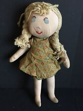 Vintage Rag Doll with Floral Pattern Clothing