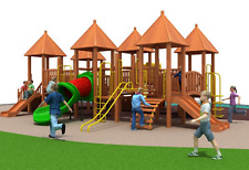 40x30x25 Commercial Outdoor Wood Playground Equipment 100% Financing Available
