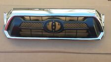 fits 2012-2015 TOYOTA TACOMA Front Bumper Black Grille Chrome Surround NEW