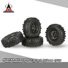 4Pcs AUSTAR AX-4020C 1.9 Inch 110mm 1/10 Rock Car Tires w/Beadlock Wheel Rim