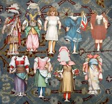 Antique Victorian Paper Doll Costumes of Different Countries Nations 1897 P502