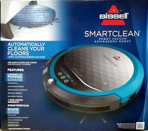 NEW Bissell 1605 SmartClean Automatic Robot Vacuum Cleaner Titanium Disco Teal