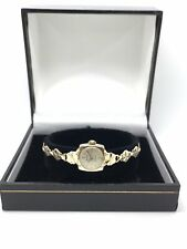 ACCURIST Vintage Ladies 9ct Yellow Gold Bracelet Watch - Mechanical Movement