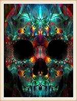 CANDY Teschio Donna Cross Stitch KIT by florashell