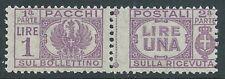 1946 LUOGOTENENZA PACCHI POSTALI 1 LIRA MNH ** - CZ19-3