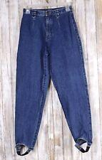 Vintage 80s Stirrup Pants Liz Wear Xs Size 8 Petite Women's Blue Jeans Retro