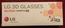 LG AG-F200 3D Glasses - 2 Pairs Black Glasses - LG Cinema LG 3D LED HDTVs