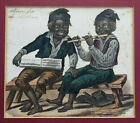 2 of 2 OLD Victorian Hand Painted Print Social Satire Boy Chimney Sweeps c1840