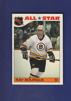 Ray Bourque All Star 1985-86 TOPPS Hockey Sticker Insert Set #5 (EXMT)
