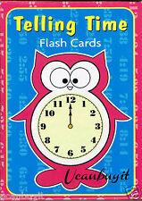 36pc TELLING TIME Preschool English Flash Cards w/Instruction Cards Grades PreK+