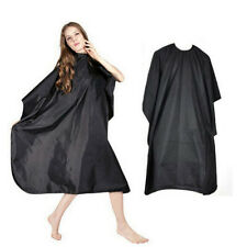 Pro Black Hairdresser Cape Gown Barbers Salon Adult Cloth Hair Cut Dye Cover New