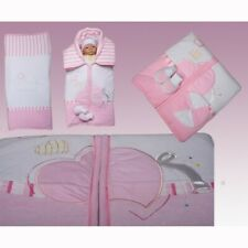 rosa 3 teiliges Luxus Babydeckenset aus Nicky
