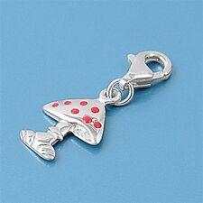 Mushroom Pendants Sterling Silver 925 Fashion Bracelets Charms Jewelry Gift