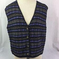 Alps Sportswear Knit Sweater Vest Hipster NWT Medium Made in USA CottonAcrylic