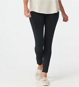 Women with Control Petite Tummy Control Leggings w/ No Side Seam Black PM A36653