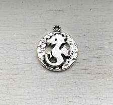 8PCS Antique Silver Round Detailed Seahorse Charm/Pendant 19x16mm