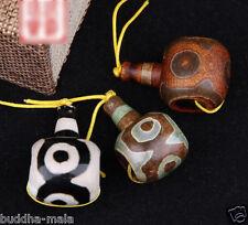 3pc Nepal Dzi Agate Tibetan Guru Beads DIY Buddha Mala Making Stone Charms