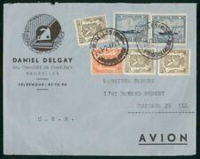 Mayfairstamps Belgium 1947 Maison Delgay Fondee Ship Block Coat Arms Block Cover