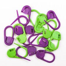 Knit Pro Locking Stitch Marker - Pack of 30 - Purple and Green