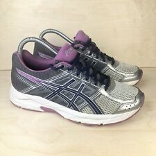 Asics Gel Contend 4 Women's Size 8 Running Shoes Gray Blue Purple T756N *MINT*