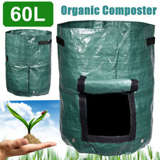60L Garden Composter Bin Eco Friendly Organic Compost Storage Waste  Y
