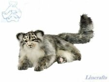 Pallas Cat Lying Plush Soft Toy by Hansa. Sold by Lincrafts. 7080