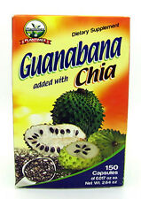 Plantimex Guanabana added with Chia Dietary Supplement 150 Capsules