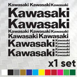 KAWASAKI Tank Motorcycle Vinyl Decals Stickers set - Multiple Colours