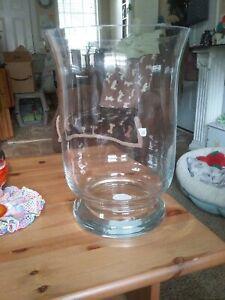 EXTRA LARGE GLASS HURRICANE VASE