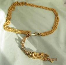 Big Funky Boho Vtg Morris Moskowitz Multi Gold Chain Dangle Belt / Necklace