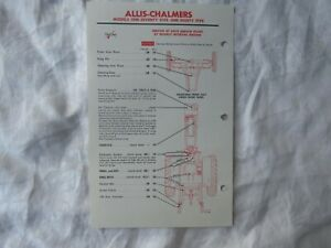 Allis Chalmers 175 185 tractor lubrication guide chart