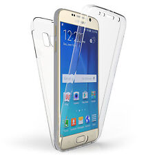 Front and Back Clear 360° Full protection Gel Cover Skin Case For Samsung S6 UK