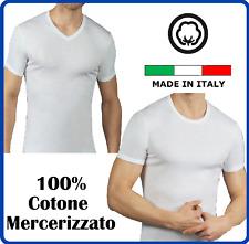 Intimo da uomo taglie forti t-shirt intima scollo a v girocollo in puro cotone