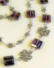 CG6795 Cristal Cuentas Collar Con Bañado en Plata Celta Nudos