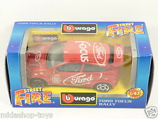 [PG3-16] *RARA* BBURAGO BURAGO 1/43 STREET FIRE #4174 FORD FOCUS RALLY RED ROSSA